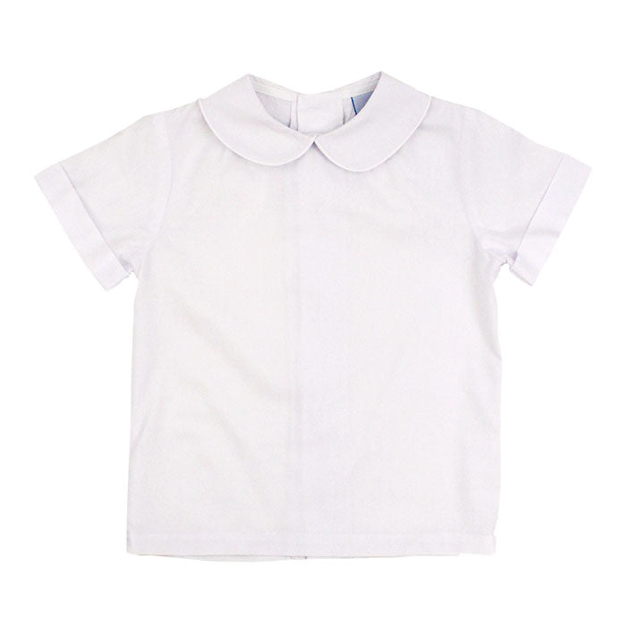 112-PSB-B, Boys short sleeve piped shirt