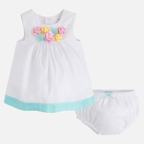 Two-piece baby girl vichy dress