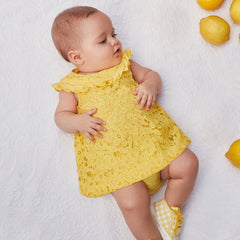 Two-piece guipure baby girl dress