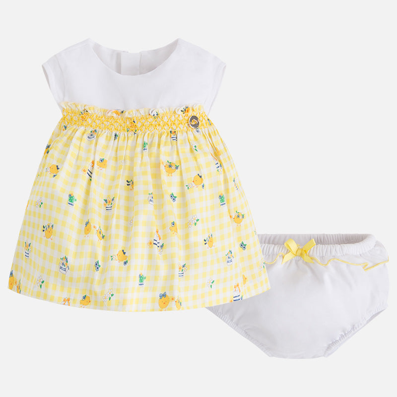 Two-piece baby girl dress with print 1858