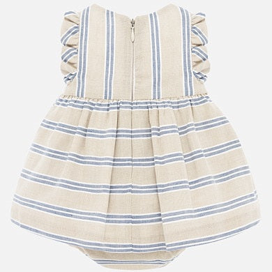 Sand stripe Linen Dress 1879