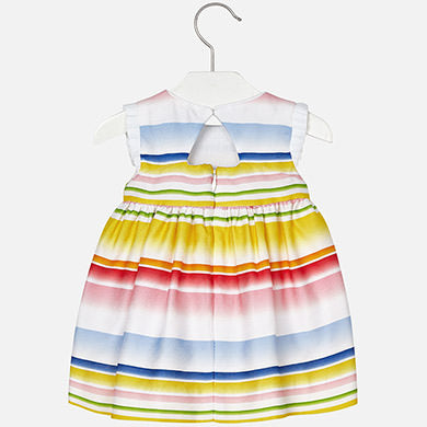 Gradient striped dress 1952