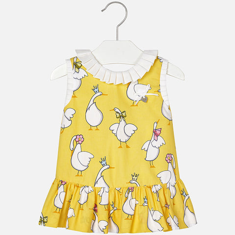 1958 Geese print dress for baby girl
