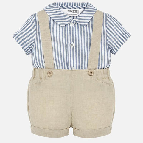 1266 Suspender Pants and Shirt Set