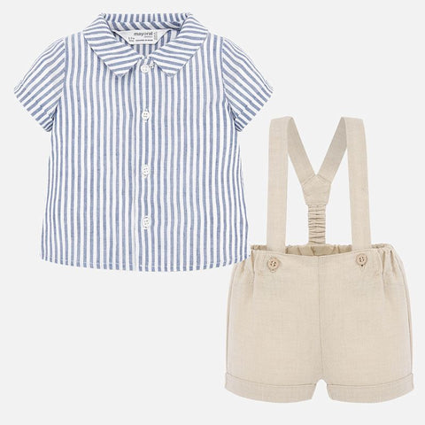 Suspender Pants and Shirt Set
