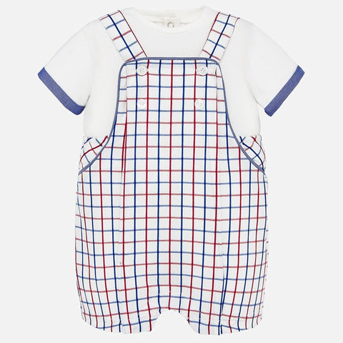Red white and blue Overalls Set