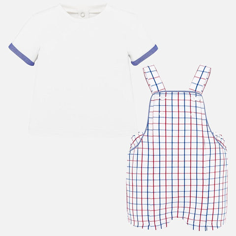 1664 Red white and blue Overalls Set