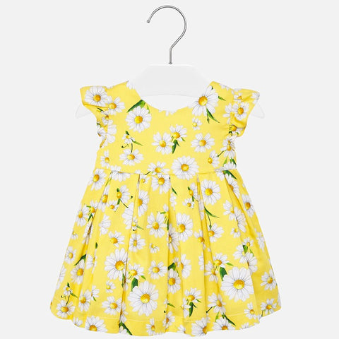 Yellow Daisy Poplin Baby Dress
