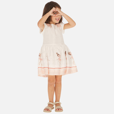 Peach Ballerina short sleeved Dress