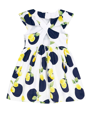 Girl's dot and lemon dress
