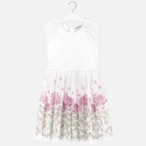 Pink Rose Plumeti Flower Dress