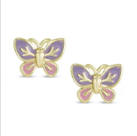 321E, Butterfly Stud Earrings
