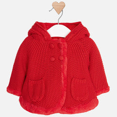 2316 Knitted hooded jacket