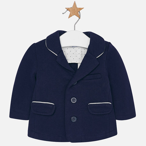 2403 Baby boy ponte knit jacket