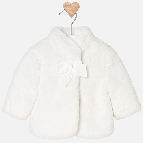2438 Faux fur coat for baby girl
