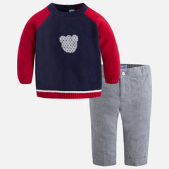 2535 Baby boy set of jumper and long pants