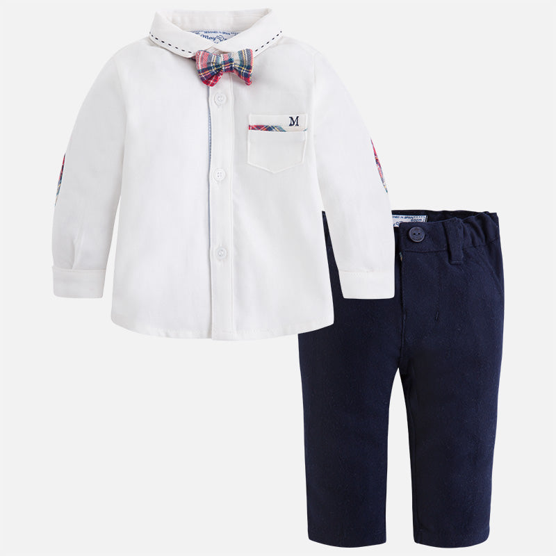 2537 Baby boy set of pants, shirt and bowtie