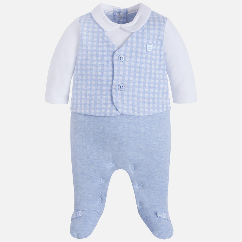 2617 Baby boy onesie with vest and pants