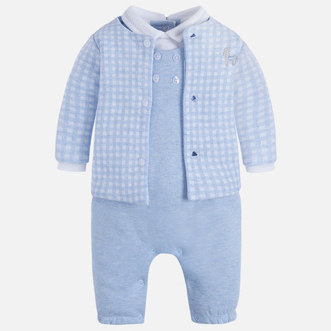 2629LB Baby boy jacket and onesie set