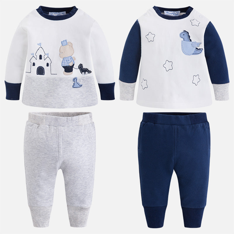 2633 Baby boy fleece four piece set