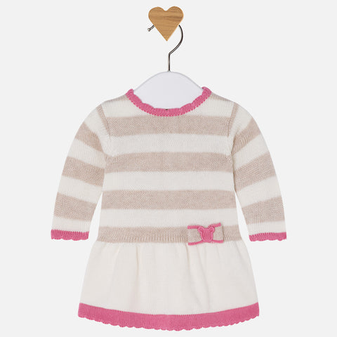 2811 Baby girl long sleeve knit dress
