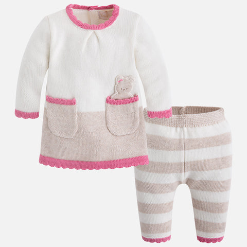 2819 Baby girl set of knit jumper and pants