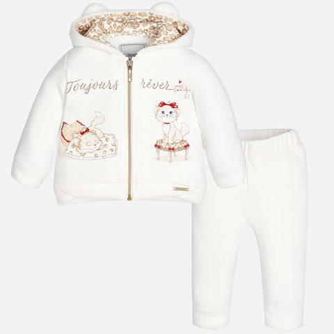 2824 Baby girl tracksuit with zip