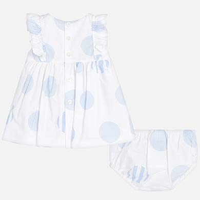 Polka Dot Sky Patterned Dress 1815