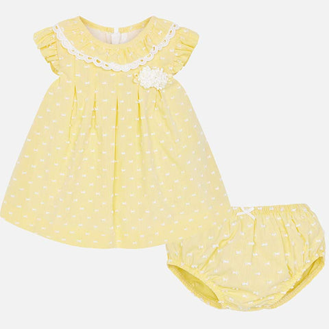 Lemon Swiss Dot Dress 1828
