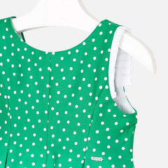 Polka Dot Dress with Floral Border