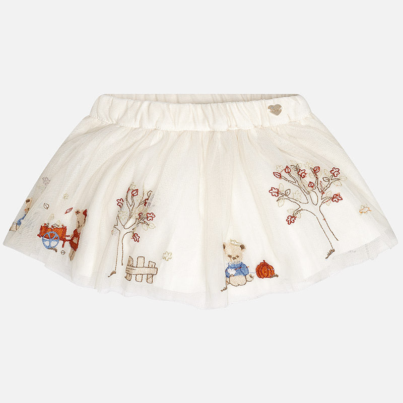 2903 Baby girl skirt with embroidered tulle