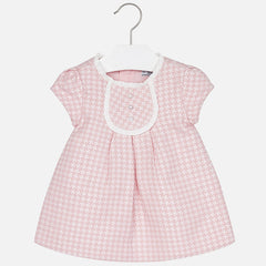 2919 Baby girl jacquard short sleeve dress