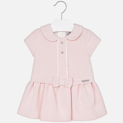 2927 Baby girl microcorduroy short sleeve dress