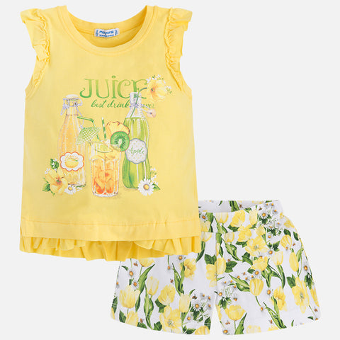Tulips shorts set