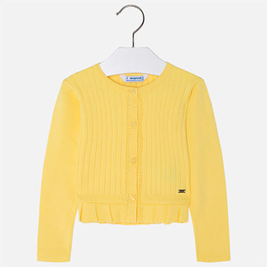 3302 Ribbed cardigan for girl