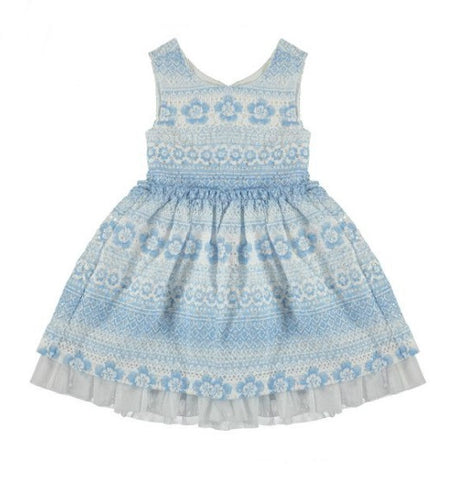 3946 Printed Lace Dress