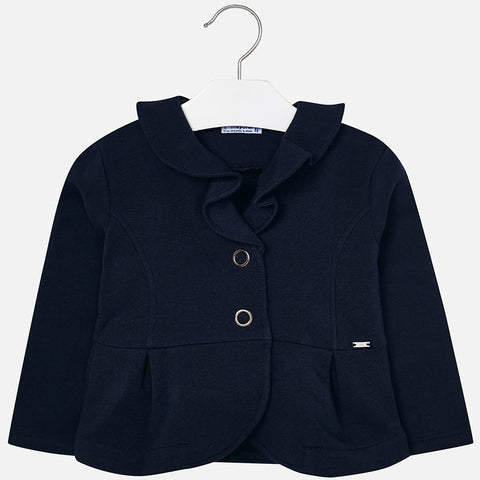 4400 Fleece jacket with ruffle