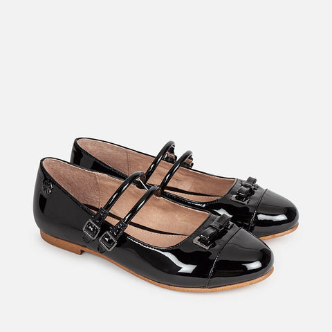 44815 Patent leather effect Mary Jane shoes