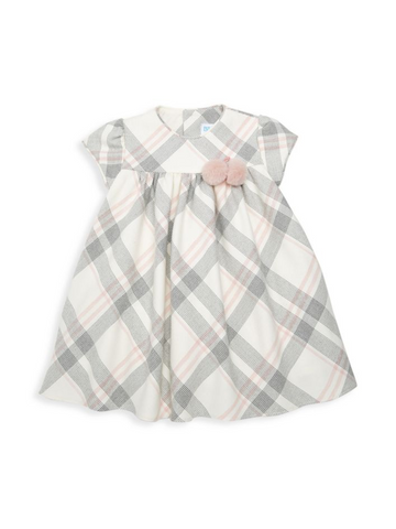 6485-PK-B Shady Plaid Dress
