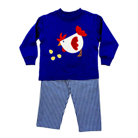 8812-PTSB-C, Rooster Boys Pant Set