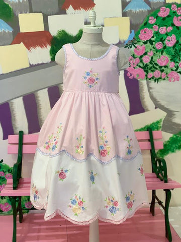 CK3524, classic rose dress