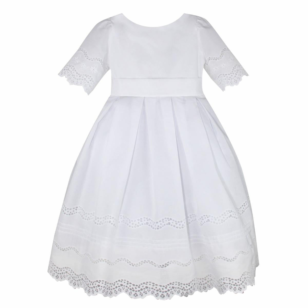 BEAUTIFUL COTTON EMBROIDERED LACE DRESS