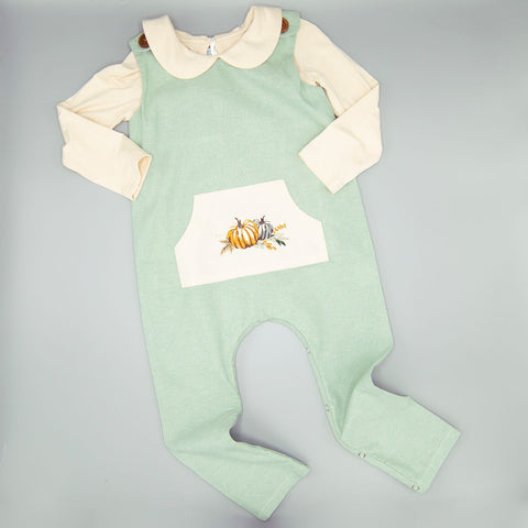 F20234A, Boys Grateful-Thankful-Blessed romper