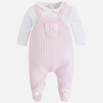 Knitted Overalls, Baby girl overall style onesie