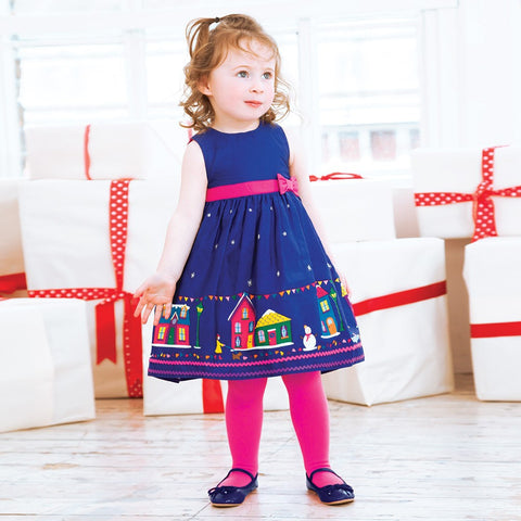 Holiday Blue Dress D7756