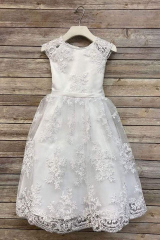 SWEET LACE OVER FULL SATIN DRESS