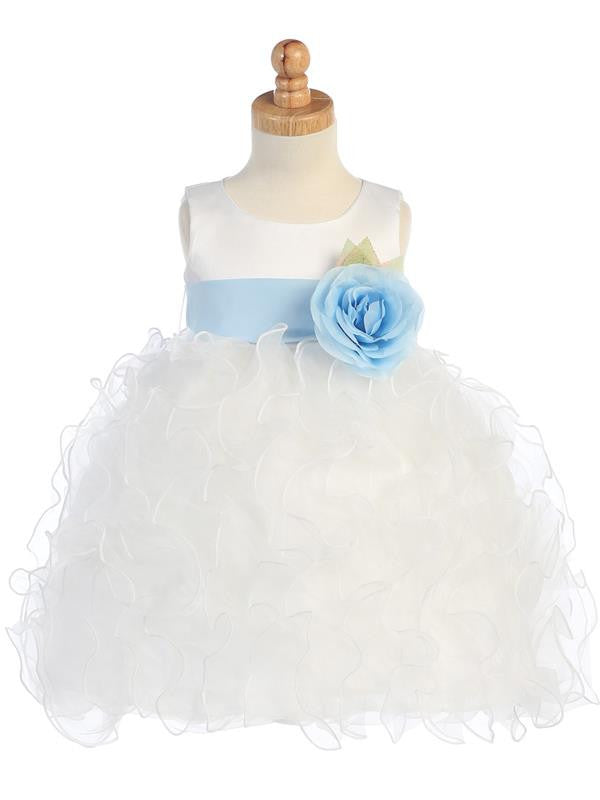 Satin Bodice with Ruffled Organza Skirt  BL223