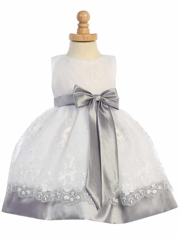 Silver Embroidered organza SP/M558