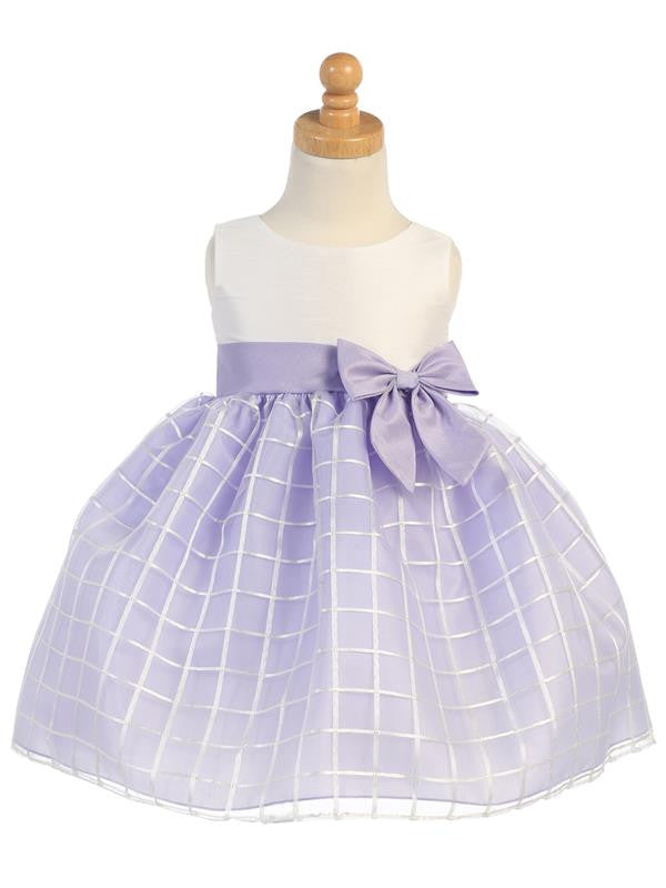 Lilac Embroidered Organza  SP/M702