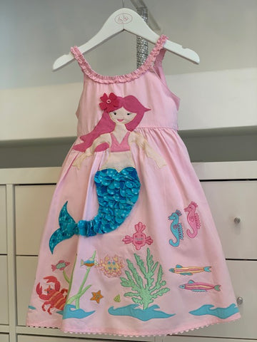 Pink Embroidered Mermaid Dress